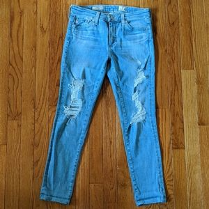 AG Adriano Goldschmied Middi Ankle Distress Jeans